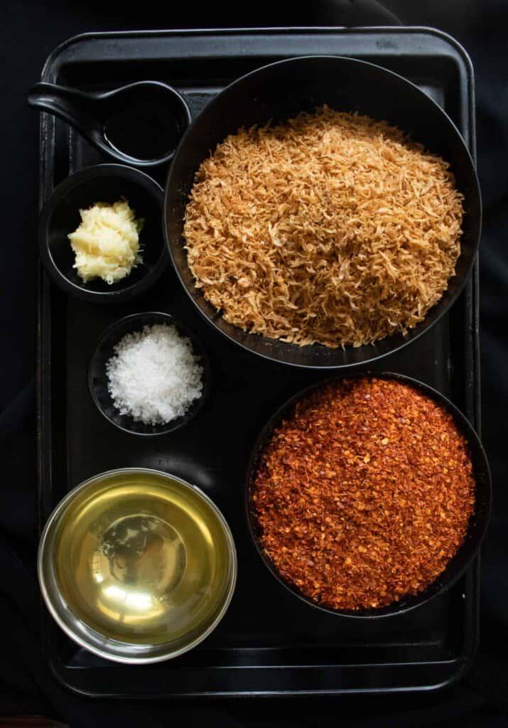 ingredients for sri Lankan chilli paste