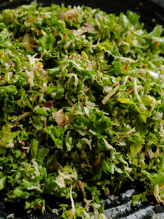 parsley and coconut mixed to make the parsley salad