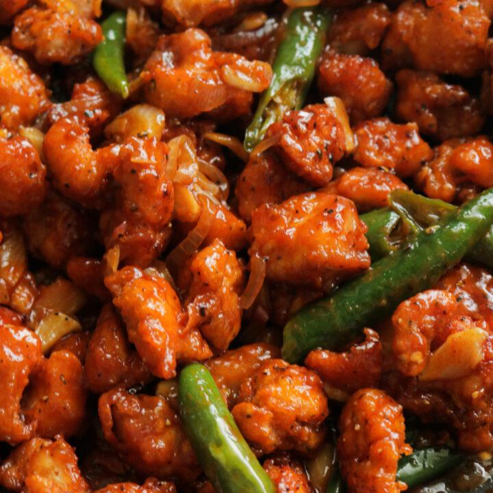 chilli chicken dry(Indo Chinese recipe)